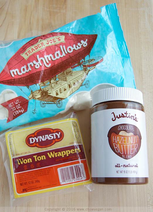 Vegan S'mores Wontons Ingredients