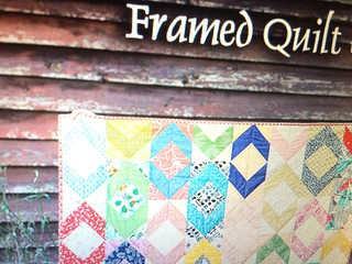 framed quilt (from Stitched in Color)