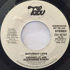 CHERRELLE with ALEXANDER O'NEAL:SATURDAY LOVE(LABEL SIDE-B)