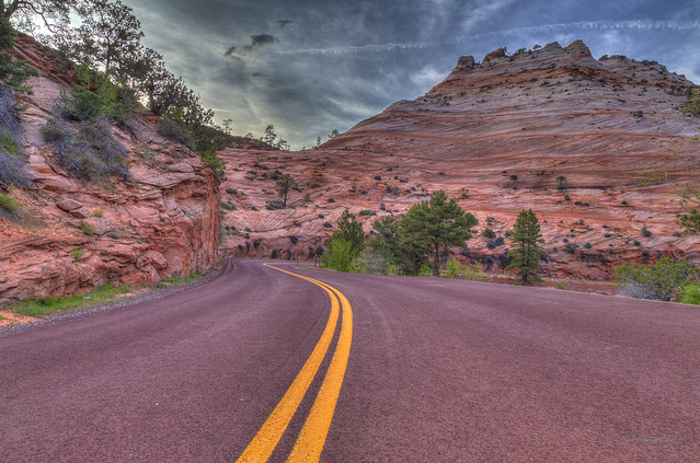Red Paved Road of Zion by Gunther Hagleitner on flickr