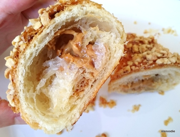 Peanut Butter Filled Croissant cut open