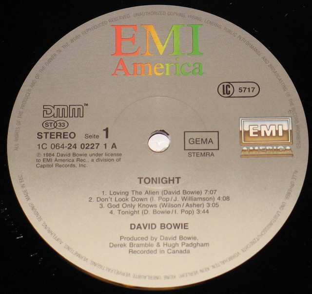 David Bowie Tonight DMM Audiophile