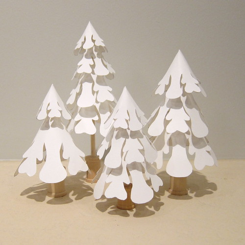 Iron Craft '13 Challenge #24 - Paper Snowflake Trees