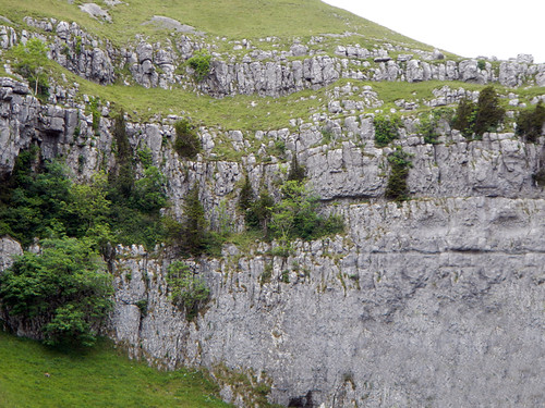 The cliff walls on our Malham walk in the Yorkshire Dales of England