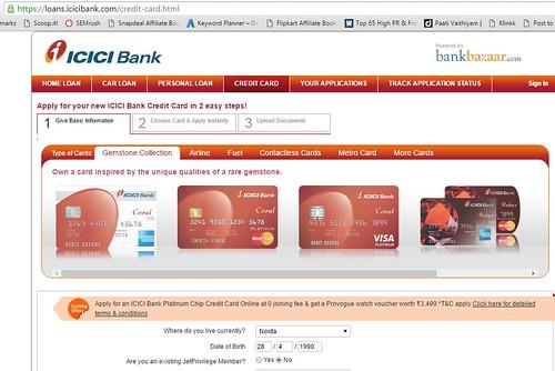 Check track ICICI credit card status