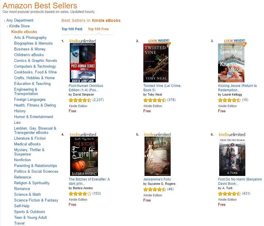 Amazon Top 100 free books