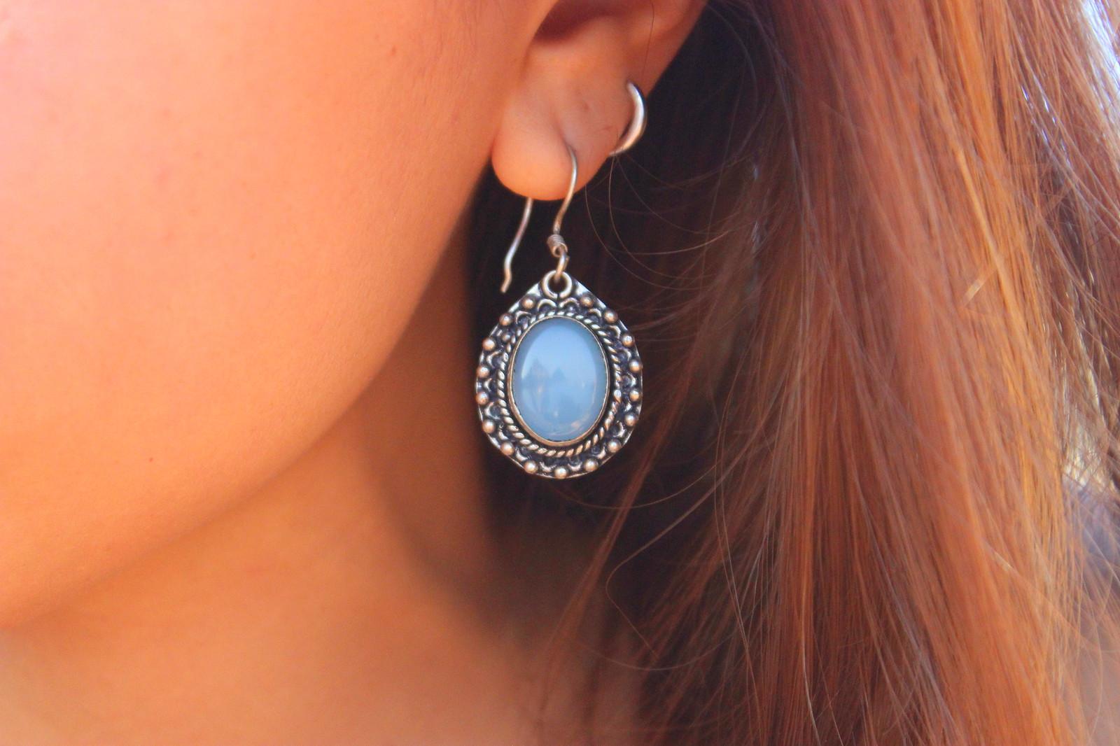 moon stone earring
