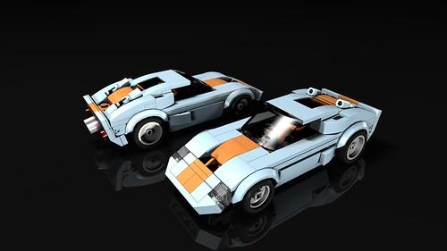TLG Speed Champions Ford GT40 Racecar custom SC mod