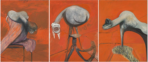 16g03 Francis Bacon Three Studies for Figures at the Base of a Crucifixion c 1944