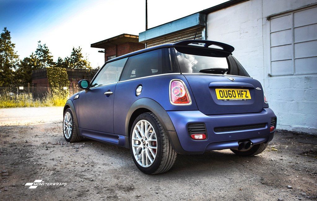 Bmw Mini Cooper S Jcw Matte Midnight Blue Wrap Flickr