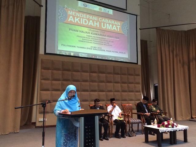 Program Mendepani Cabaran Akidah Umat | 25 Mei 2016(Rabu) | 8.00 pagi - 1.00 ptg | Dewan Kuliah Politeknik Tuaku Syed Sirajuddin Pauh Putra Perlis | - omaQ.org
