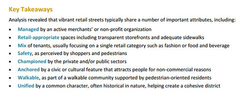 DC Vibrant Retail Streets Toolkit, eight elements, text