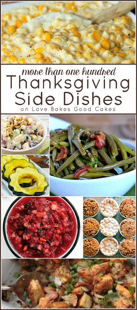 More than 100 Thanksgiving Side Dishes collage.