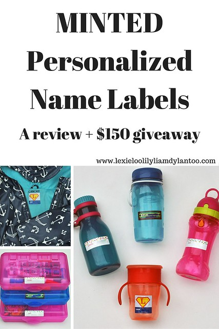 Personalized Name Labels from Minted Review and $150 giveaway