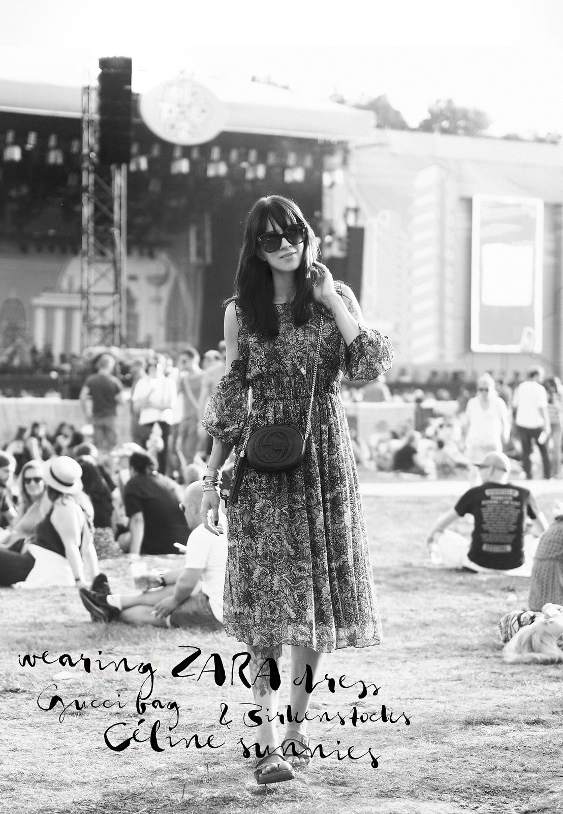 firestone music tour lollapalooza 2016 berlin festival style zara dress gucci soho bag party photography celine sunglasses audrey ootd fashionblogger cats & dogs ricarda schernus modeblogger 3