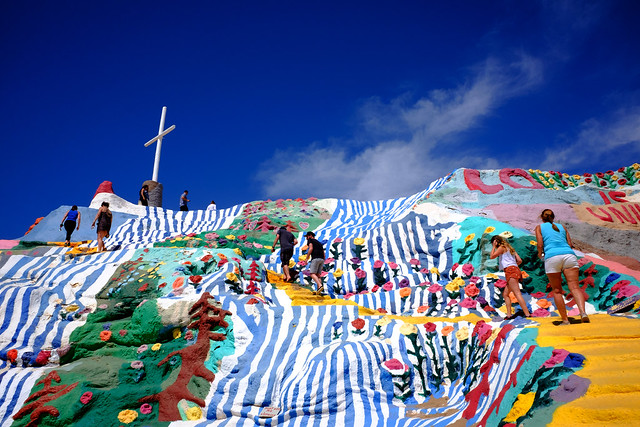 Salvation Mountain: It's a long way to the top