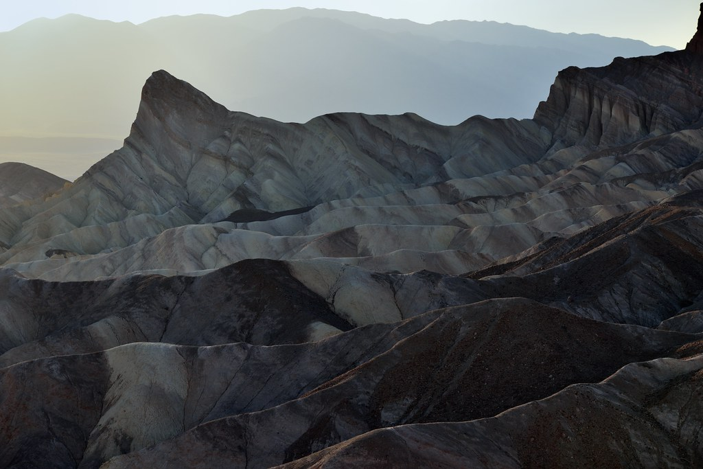 Taking in Rock Formations and Colors at Zabriskie Point (Death Valley National Park)