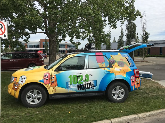 102.3 FM radio station Edmonton car