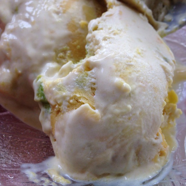 homemade avocado ice cream