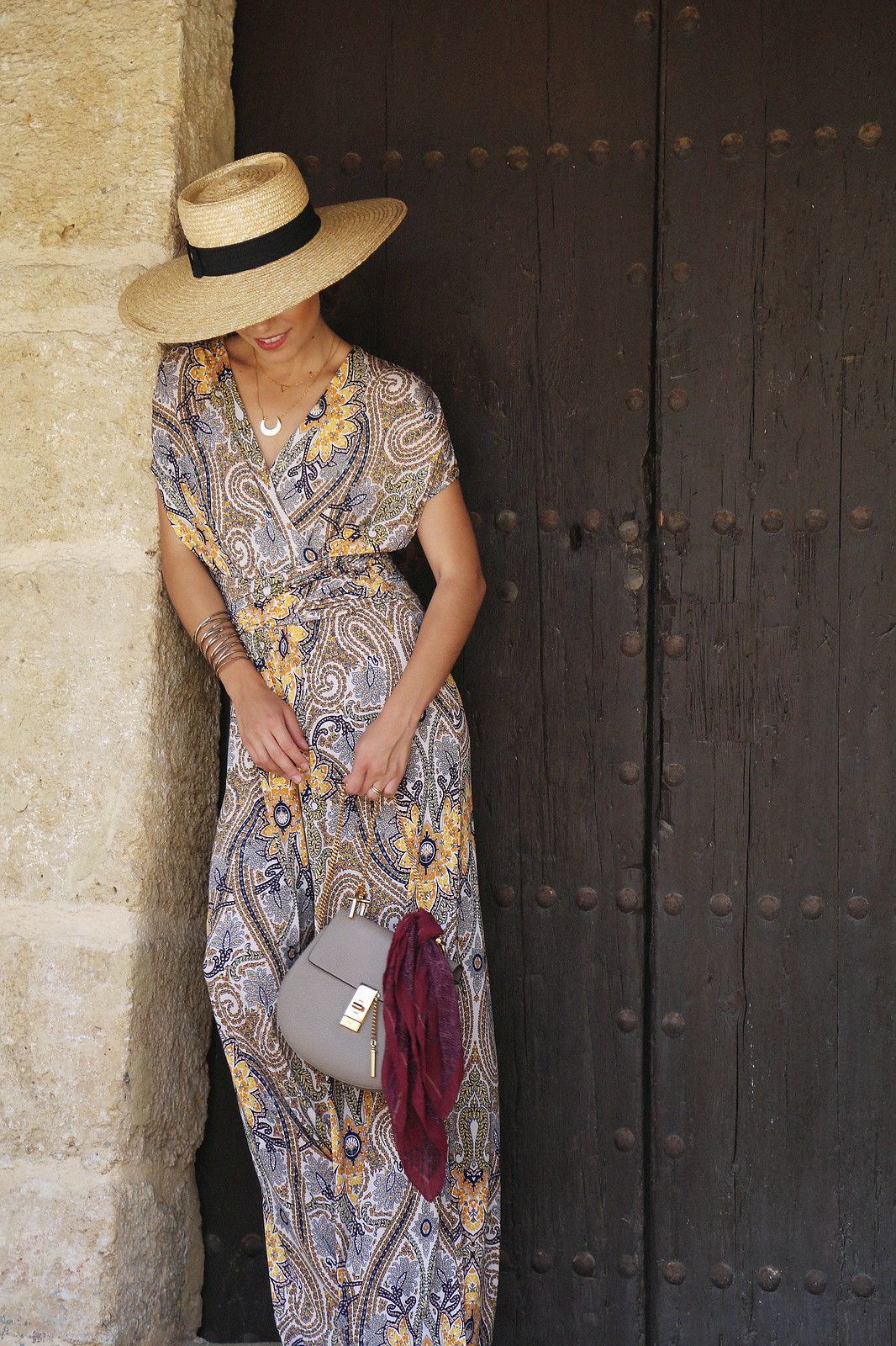 jessie chanes seams for a desire paisley jumpsuit summer hat chloe bag-13
