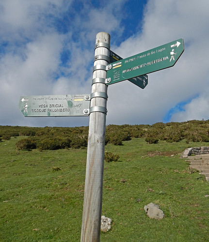 Route Signs in Covadonga, Spain