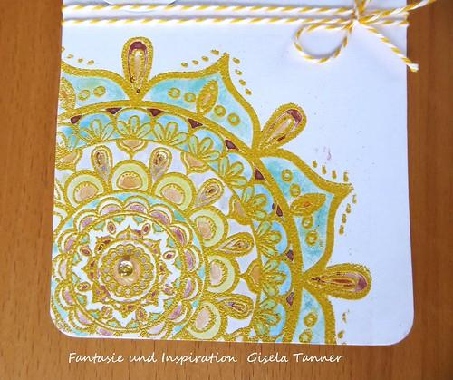 Mandala für sonnengelbe Sommergrüße