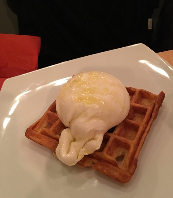 Burrata and Waffles