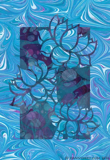 Marbled Lotus Ebru Art