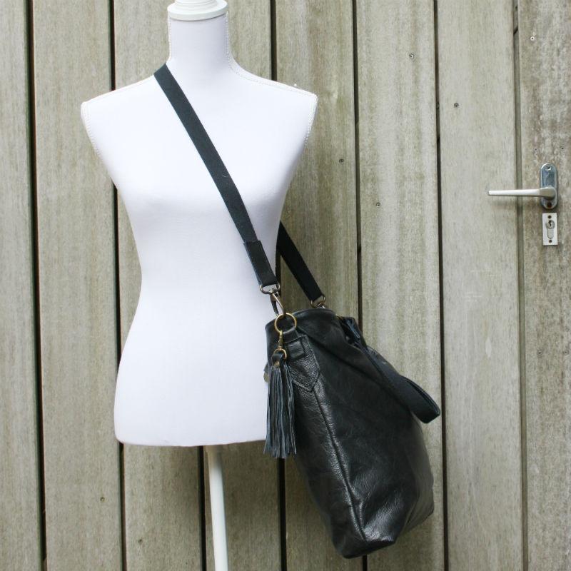 zwarte crossbody tas