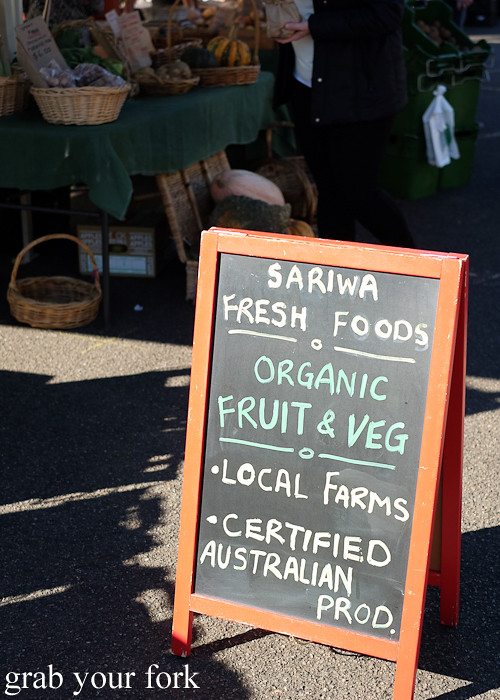 Sariwa Fresh Foods organic fruit and vegetables at the Canterbury Foodies and Farmers Market, Sydney