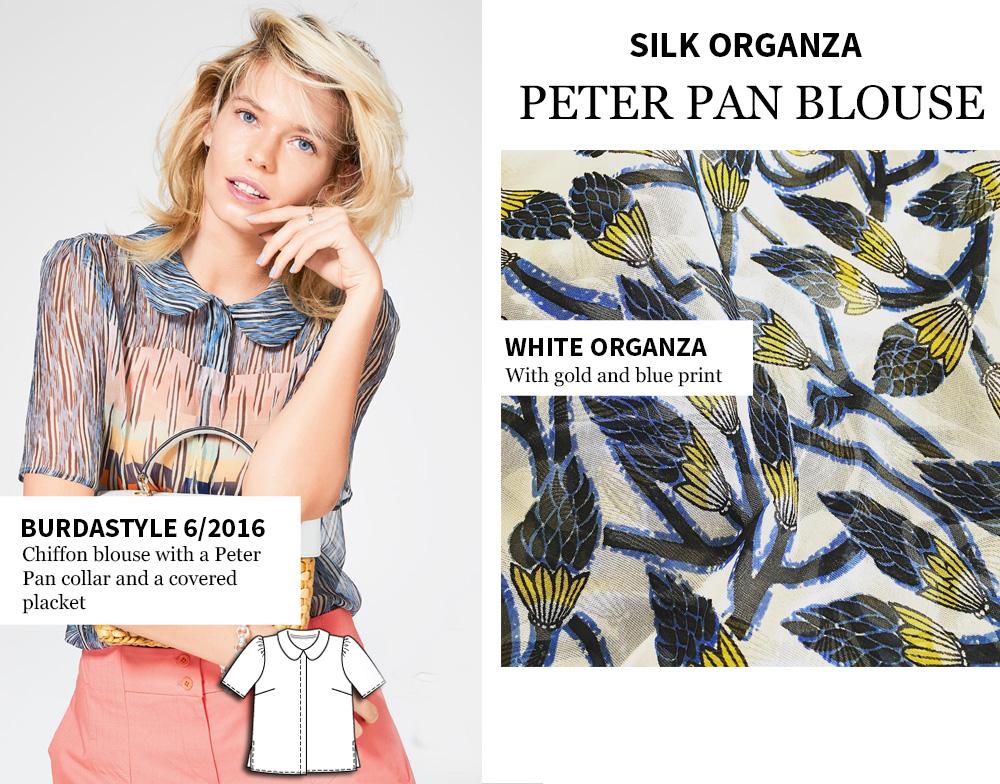 Burdastyle inspiration Peter pan blouse