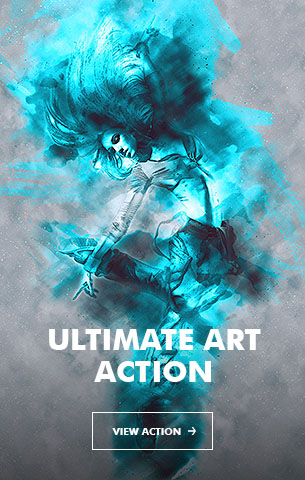 Watercolor - 4in1 Photoshop Actions Bundle V.1
