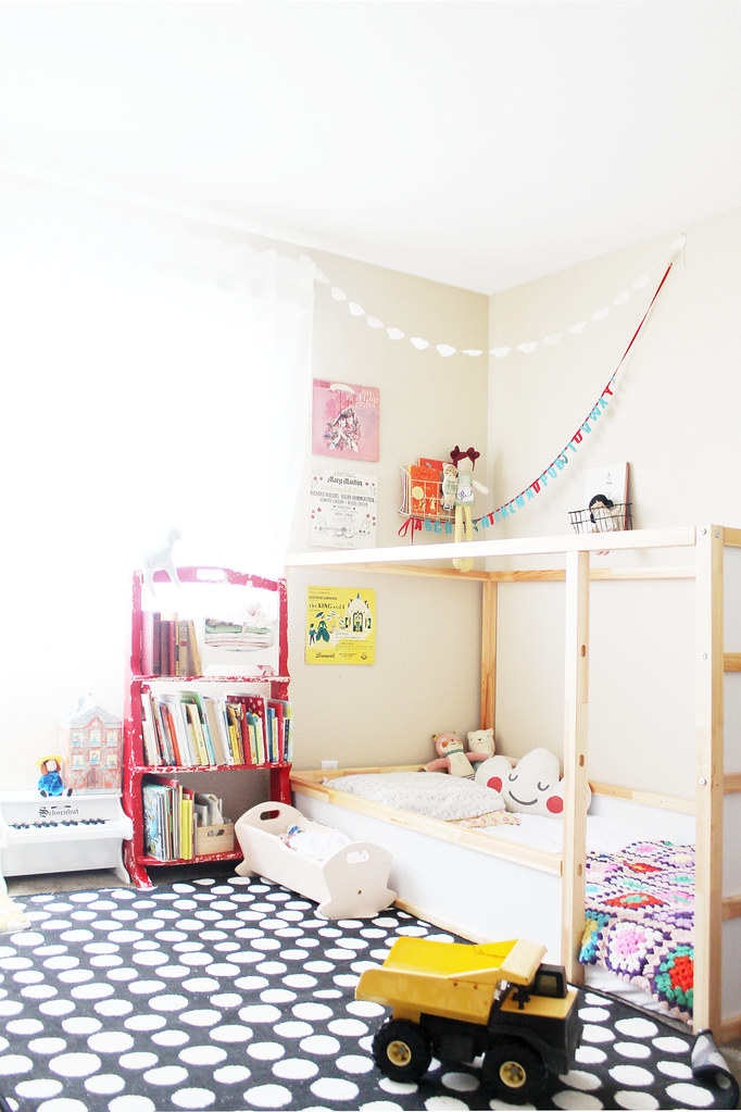 shared toddler girl and baby boy room