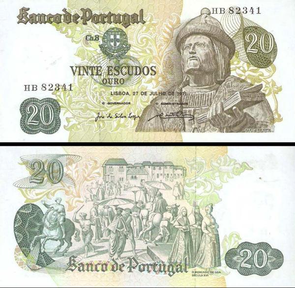 20 Escudos Portugalsko 1971, P173