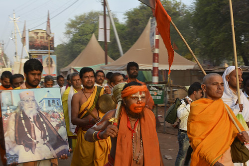 A procession of pilgrims at Badnagar road, Ujjain
