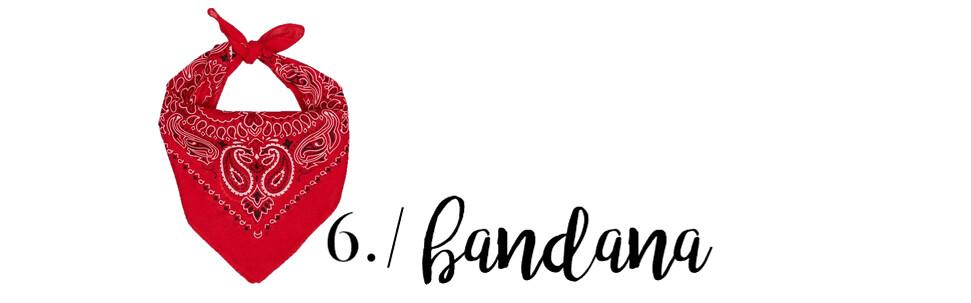 6 product bandana