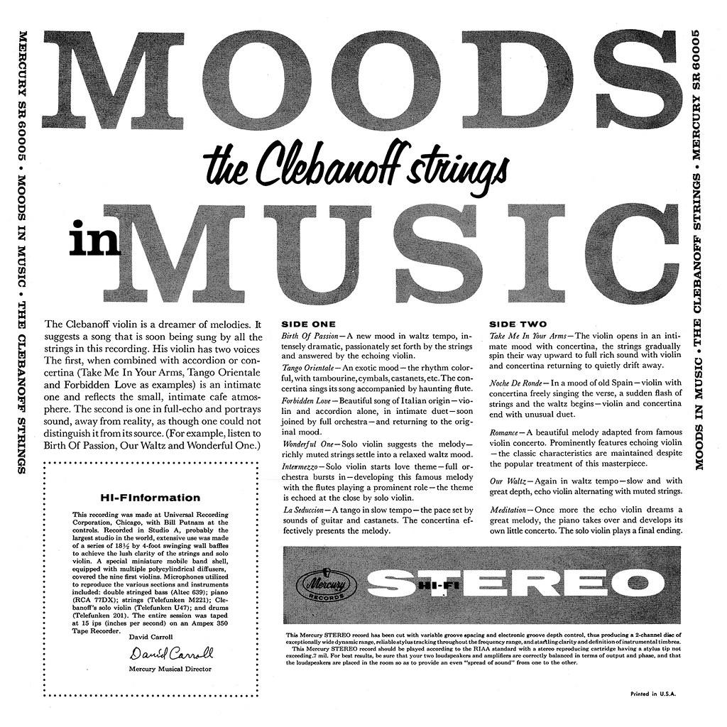 Herman Clebanoff - Moods In Music