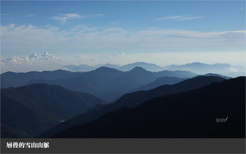 層疊的雪山山脈