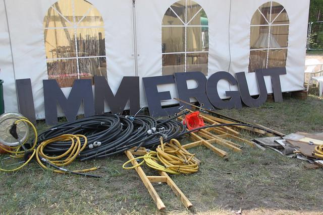 Immergut Festival 2016 - Aufbau