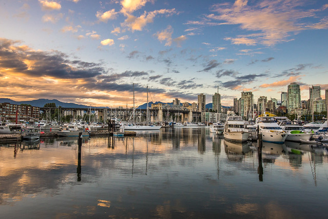 Evening Light on Granville Island