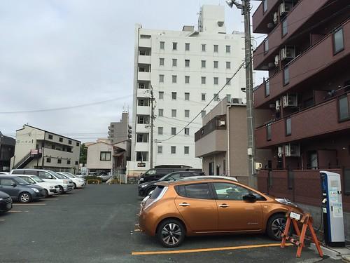 日産リーフ@アパホテル浜松南駐車場
