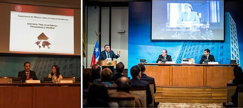 """Participación de la Embajada de México en Chile en el Seminario """"Voto en el Exterior: Perspectivas y Desafíos"""""""