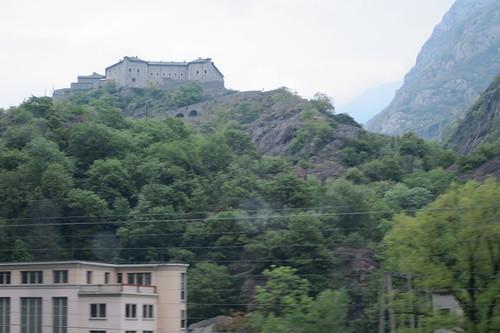 on Autostrada to Valle d'Aosta