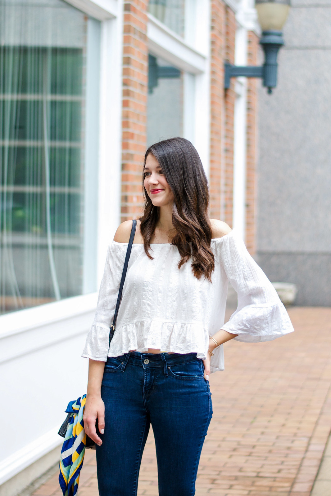 Zara Off The Shoulder Top Outfit