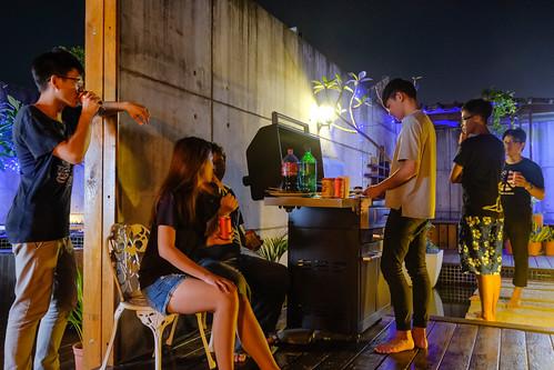 汽車旅館也可以烤肉!來台南媜13汽車旅館空中花園烤肉去 (9)