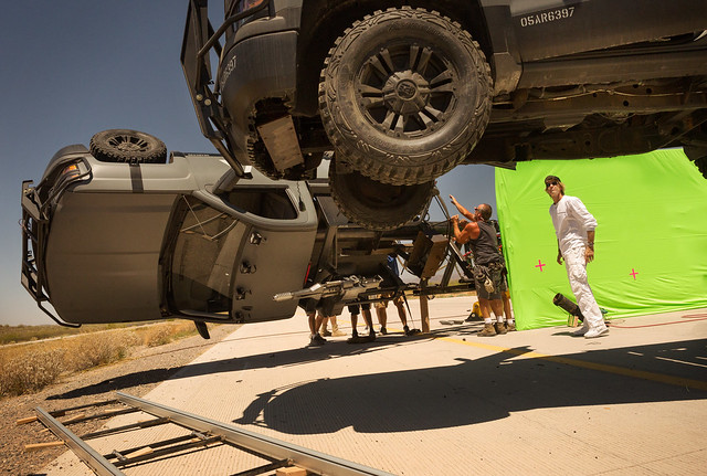 Creating some wicked action in 116 degree weather.