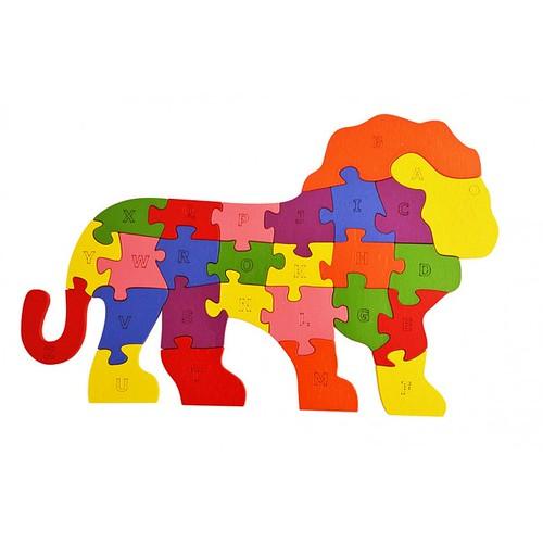 Lắp ghép đồ chơi gỗ - con sư tử