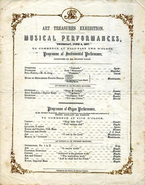 Art Treasures Exhibition Musical Programme