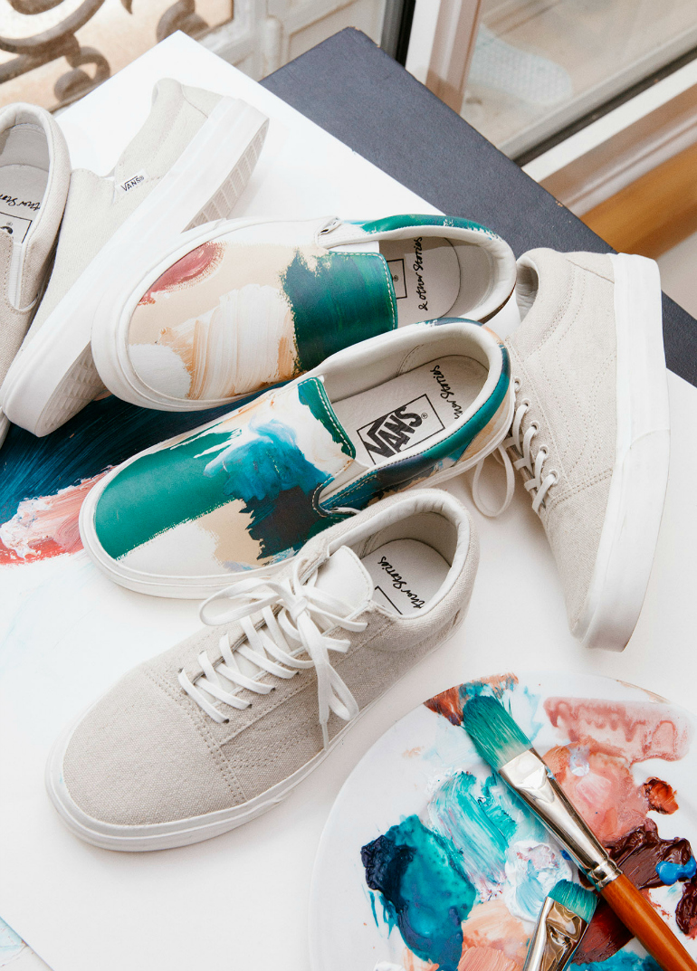 VANS & Other Stories, vans, & other stories, & other stories co-lab, zomerschoenen, vans sneakers, linnen sneakers, minimalistische sneakers, fashion blogger, fashion is a party, exclusieve sneakers, slip on