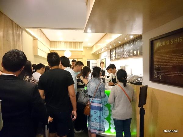 Line-up at Tsujiri Toronto
